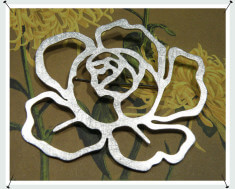 Speld zilveren roos