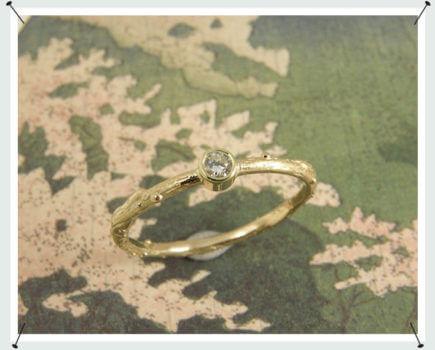 Takje geelgoud diamant ring
