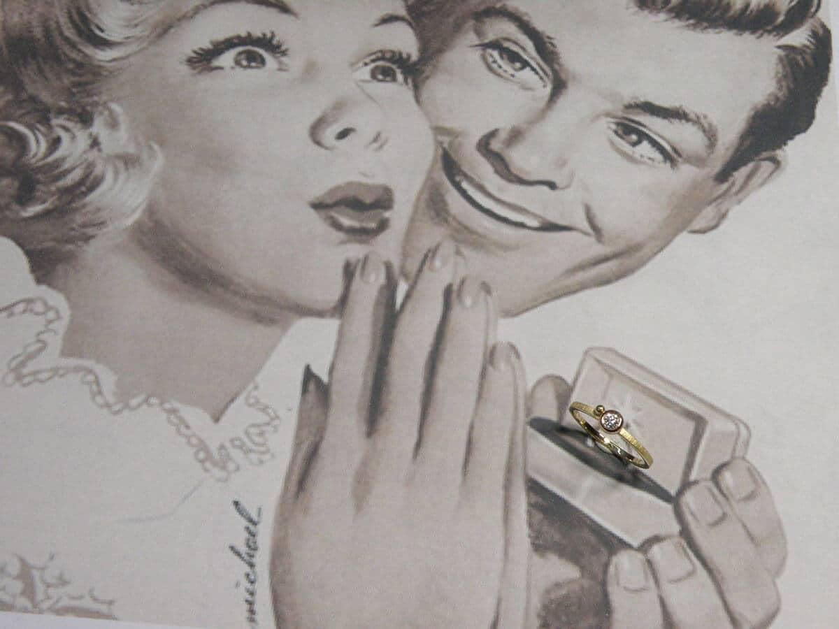handgemaakte verlovingsring, engagement ring