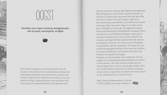 Oogst in boek '88 winkels in Amsterdam' van modejournalist Bregje Lampe