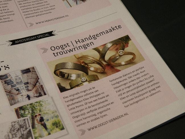 Oogst in de Amsterdam Special van magazine Bruid & Bruidegom, zomer 2015