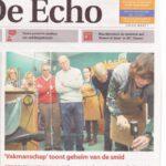 Vakmanschap op de voorpagina van stadsblad De Echo