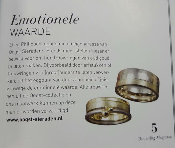 Bruid en Bruidegom magazine voorjaar 2016, trouwringen special.