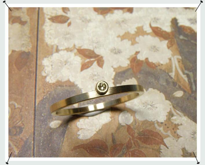 Geelgouden ring met diamant