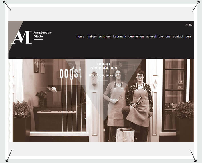 Oogst op de Amsterdam Made website