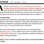 Parool aug 2016 keurmerk Amsterdam Made
