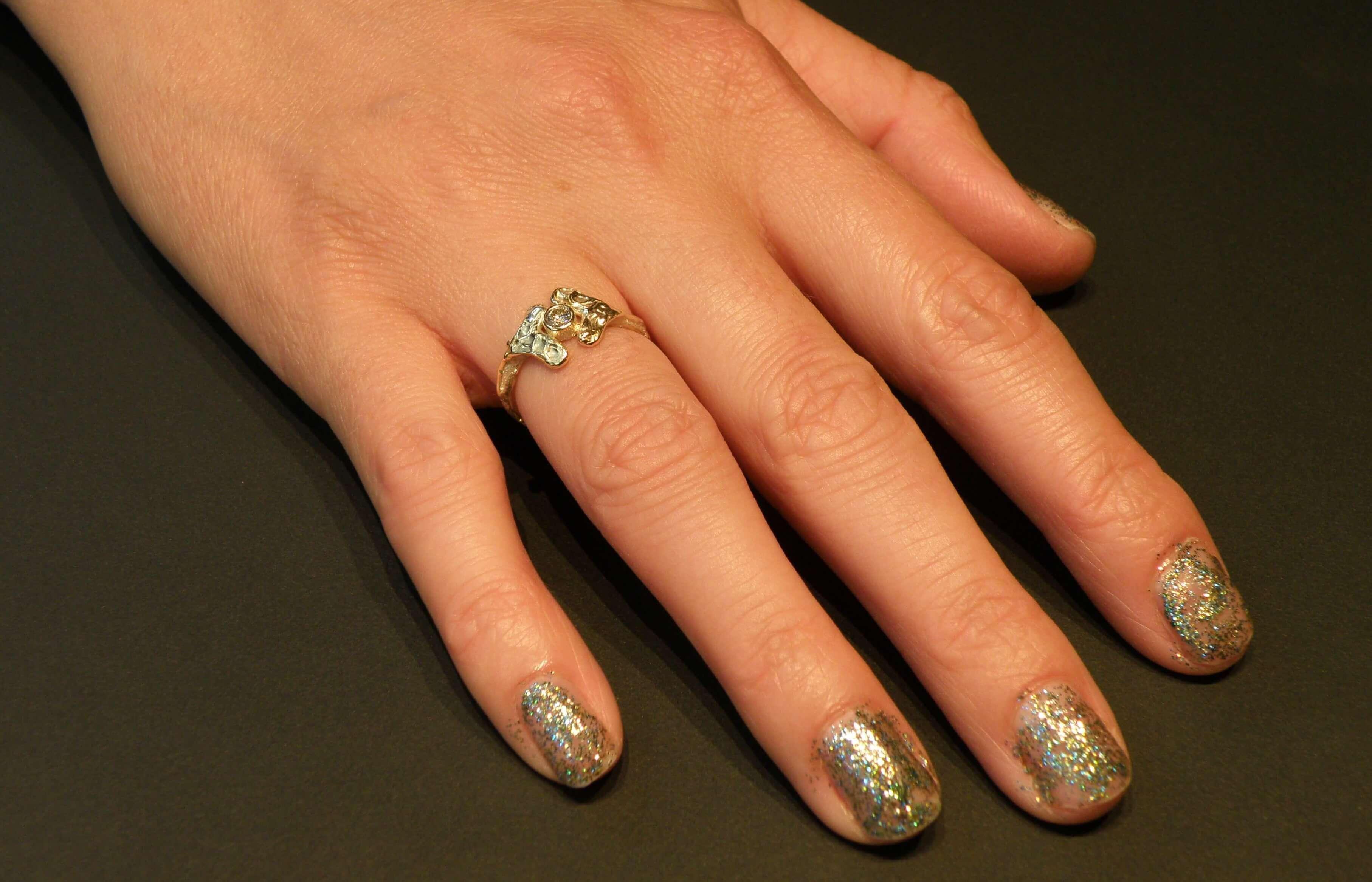 blog baargoud - ring van eigen goud met een mooie diamant - geboortecadeau - maatwerk
