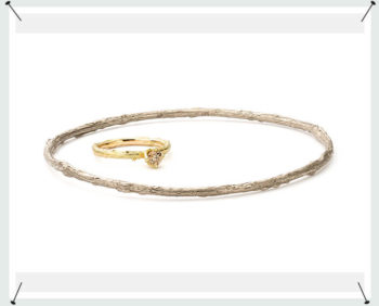 Witgouden Boomgaard rinkel armband. White gold Orchard bracelet .
