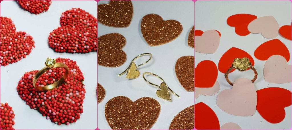 Blog about Valentine's Day gifts. Handmade jewellery by Oogst goldsmith Amsterdam