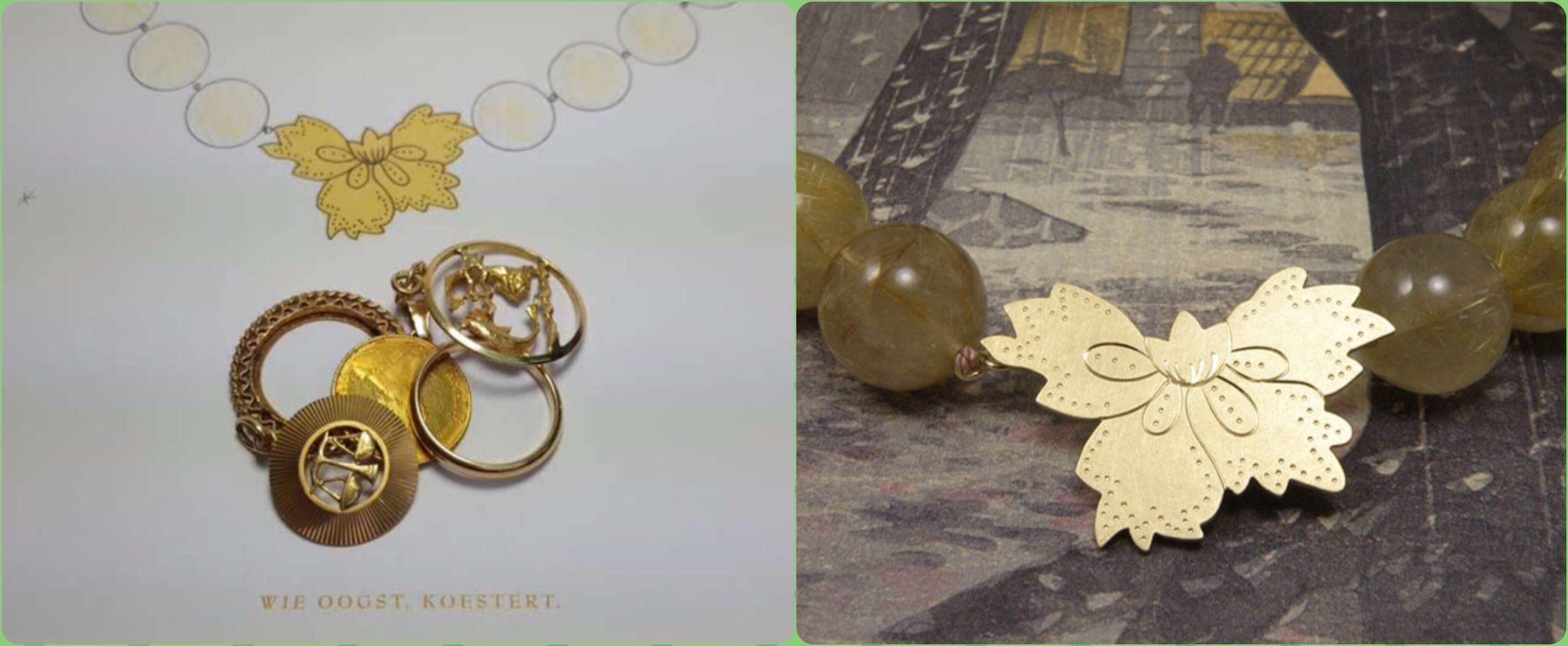 blog sieraden oud goud omsmelten. Goudsmid Amsterdam.