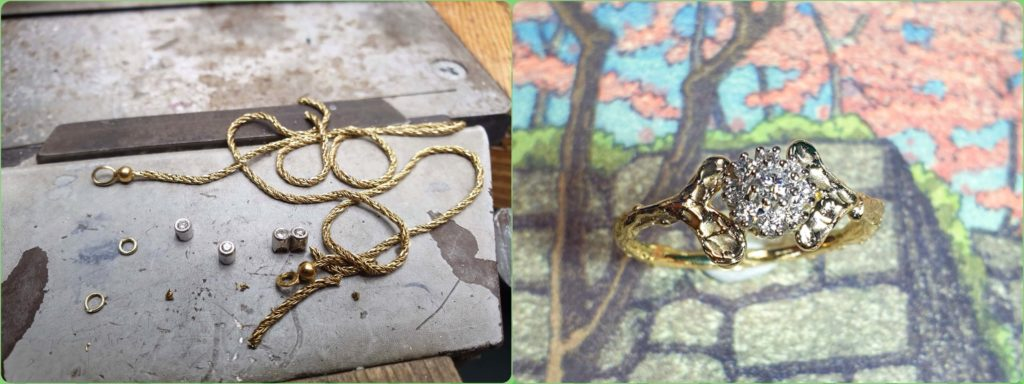 Blog about jewellery created from heirloom gold. Goldsmith Oogst in Amsterdam