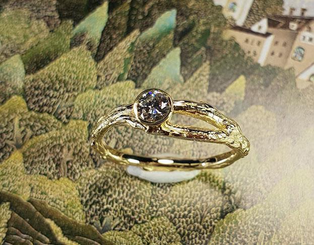 eenvoud ring * diamant * maatwerk voor desiree