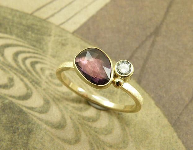 ritme ring * diamant * maatwerk voor ellen