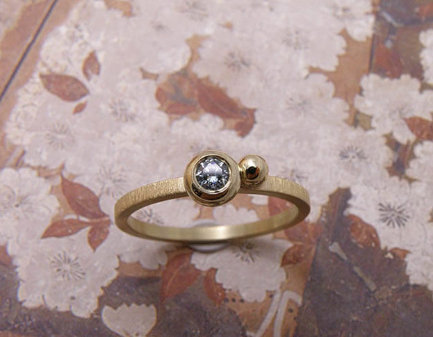 verlovingsring boleet * roze diamant * 795,-