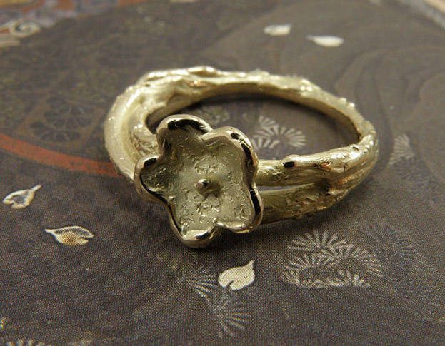 * trouwringen fluweel & boleet / velvet & boletus wedding rings * 895,- & 895,-