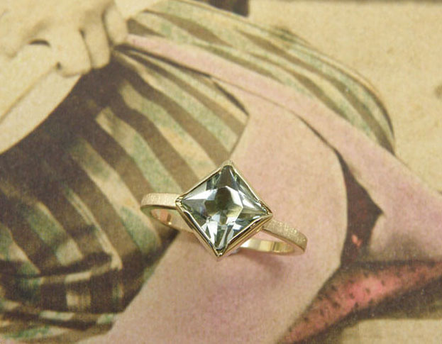 boleet ring * diamant * maatwerk voor ellen