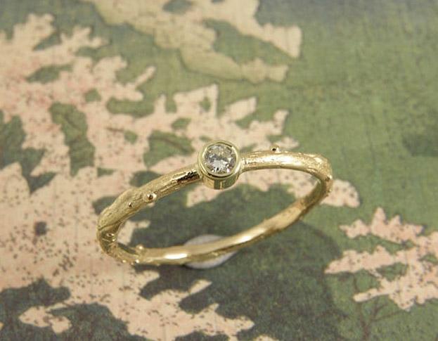 erosie ring * diamant * maatwerk voor patricia