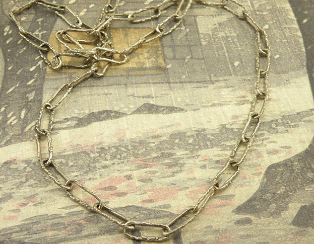 blaadjes collier * serpentijn * maatwerk voor barbara