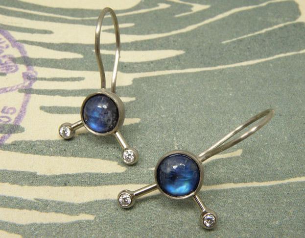 maansteen & diamant oorsieraden * maatwerk voor jeroen