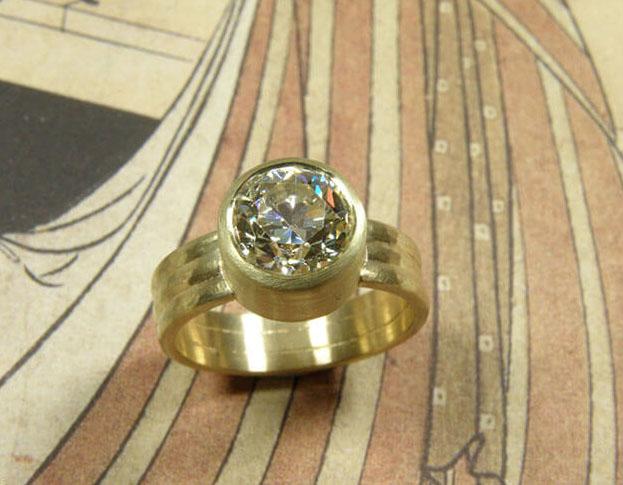 prasioliet ring * maatwerk voor franca