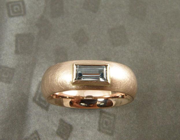 roze saffier & diamant ring * maatwerk voor shelby