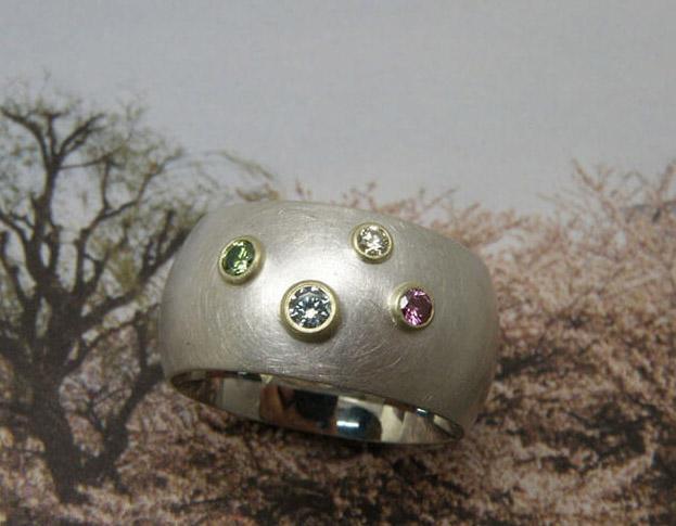 ring eenvoud * diamant * maatwerk voor monique