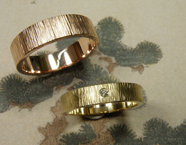 trouwringen boomgaard / orchard wedding rings * 830,- & 850,-