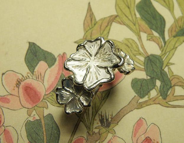 in bloei ring * diamant * maatwerk voor andrea