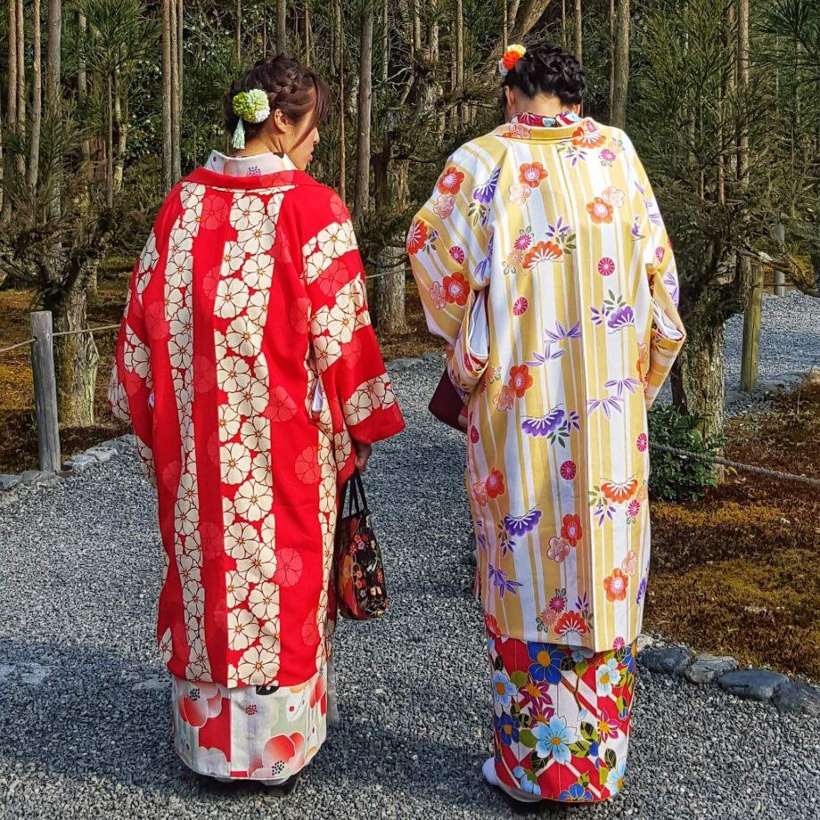 Ladies in kimono in Kyoto. Inspiratie voor de Japonais collectie Oogst Amsterdam