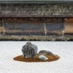 Rock garden Kyoto. Zen rotstuin in Kyoto Japan.