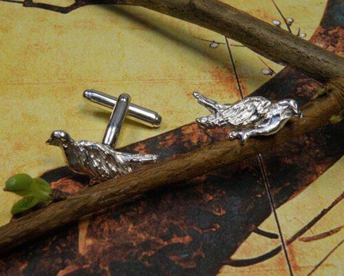 Zilveren vogeltjes manchetknopen. Silver bird cufflinks. Uit het Oogst atelier Amsterdam.