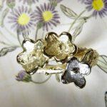 Geel- witgouden ring In Bloei
