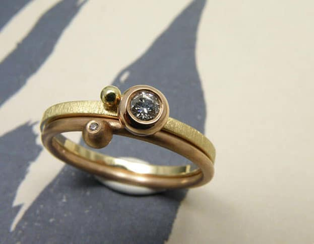 Stackable rings made at the Oogst studio. Collect your own classic mix or change it up everyday. Oogst goldsmith in  Amsterdam