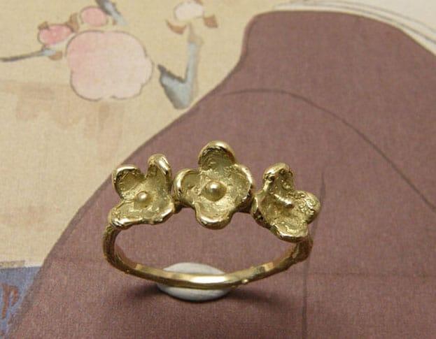 Geelgouden ring In Bloei
