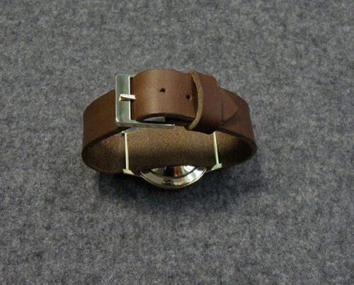 Geelgouden horlogeband gesp. Assieraad. Yellow gold watch clasp. Commemorative jewel. Oogst goudsmid Amsterdam