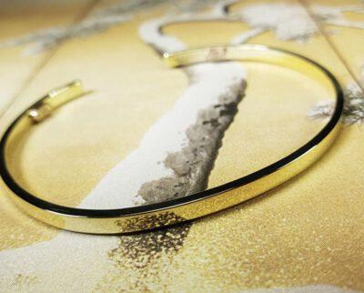 Geelgouden heren klemarmband 'Eenvoud'
