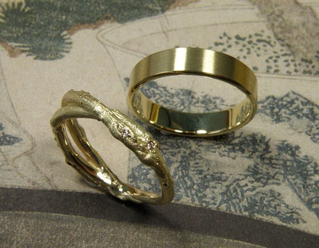 Wedding rings made by Oogst goldsmith Amsterdam