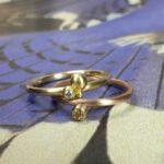 Ring Bessen. Geelgouden diamant ring Roodgouden diamant ring. Aqanschuifringen. Rings Berries Rose gold diamond ring Yellow gold diamond ring. Stack rings. Oogst goudsmid Amsterdam