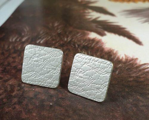 Silver 'Rhythm' cufflinks. Design by Oogst goldsmith in  Amsterdam.