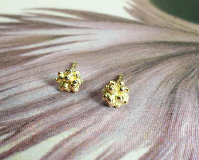 Geelgouden bessen oorsieraden Yellow gold Berries earrings Oogst goudsmid amsterdam