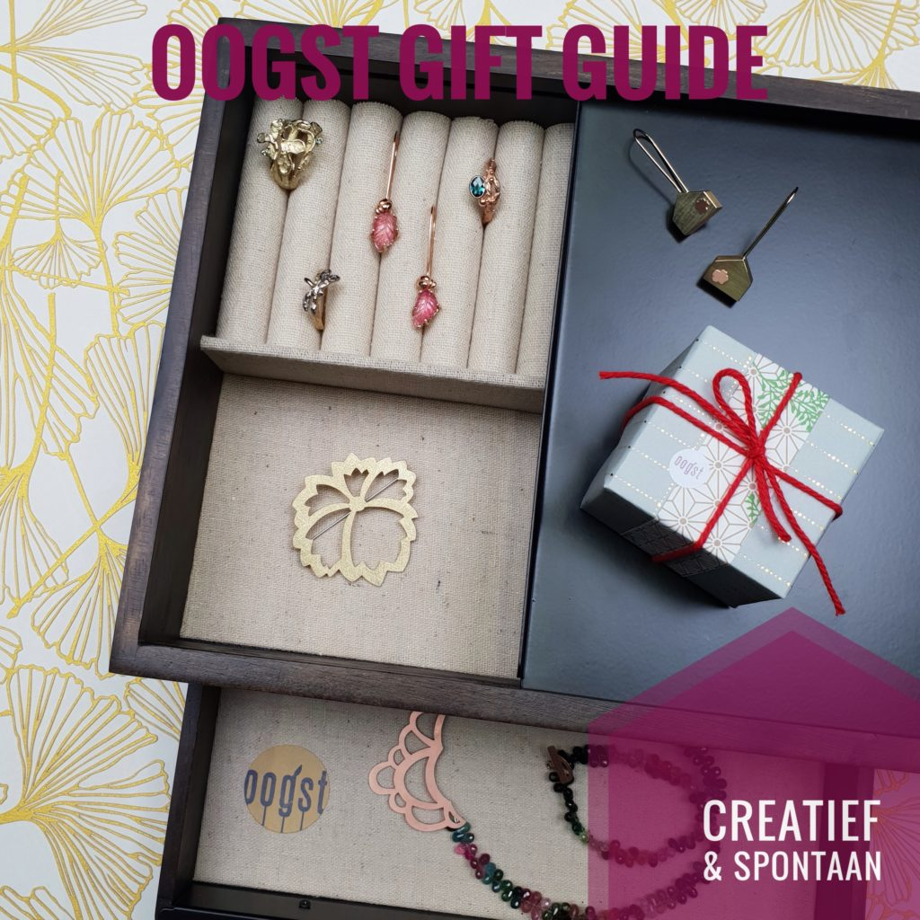 Gift Guide by Oogst goldsmith Amsterdam for the Creative Spontaneous type, this relaxed free spirit thinks 'out of the box'