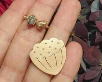Ringen Japonais kei en lotus. Roségoud met diamant. Rosé gold with diamonds ring. Oogst Amsterdam