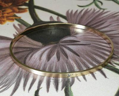 Armband Ritme spitse hamerslag van eigen goud. Bracelet Rhythm made from own gold hammered. Oogst goudsmid amsterdam