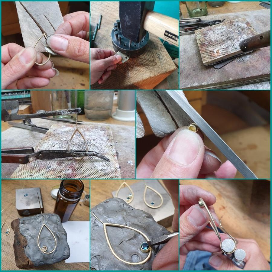Maakproces as sieraad Druppel. Making of the earrings Drops. remembrande jewel. Gedenksieraad. Design by Oogst Amsterdam