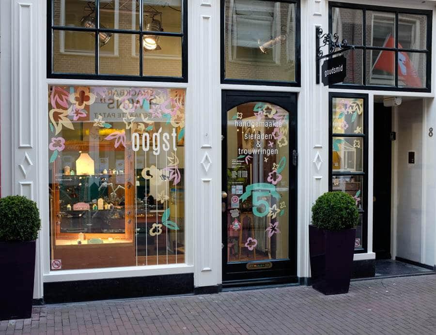 Goudsmid atelier Oogst Amsterdam, de winkel.