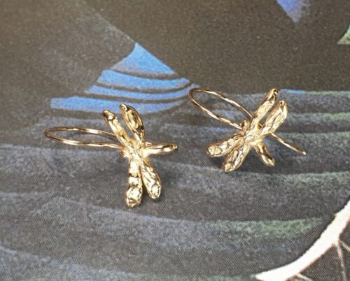 Rose gold 'Dragonflies' earrings. Oogst design & creation Amsterdam