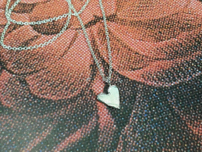 Hanger hartje zilver. Silver Heart pendant. Oogst ontwerp & creatie