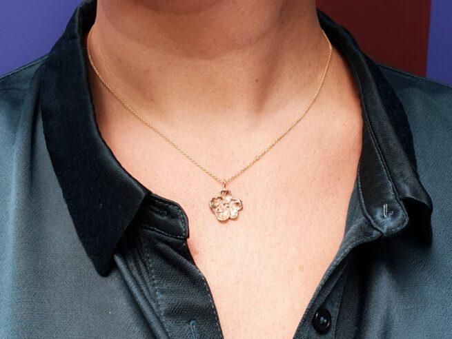 Rose gold pendant 'Blossom'. Oogst Amsterdam goldsmith