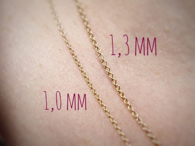 Gouden anker colliers 1,0 mm en 1,3 mm dik. Oogst goudsmid Amsterdam