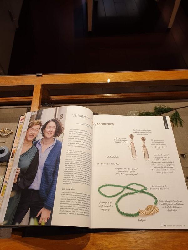 Oogst in de media, Antroposofie magazine dec 2019. Verhalen van goud en edelstenen.